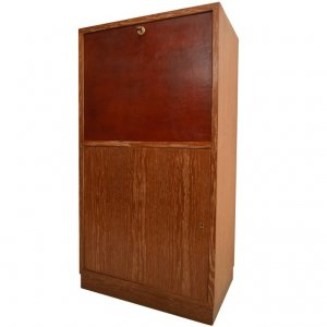 Art Deco Secretary in Oak
