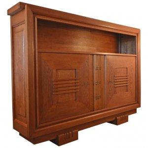Charles Dudouyt Oak Cabinet