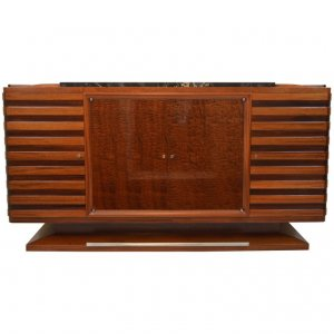 Gaston Poisson Art Deco Sideboard in Two-Tone Mahogany